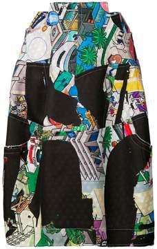 Comme des Garcons cartoon print skirt