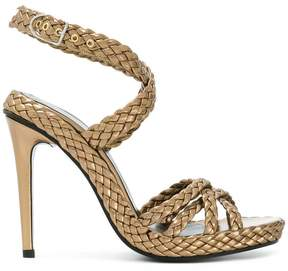 Sonia Rykiel woven side buckle sandals