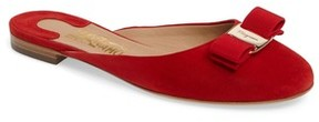 Salvatore Ferragamo Women's Rounded Toe Bow Mule