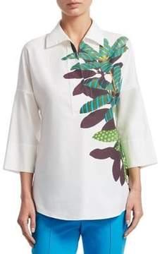 Akris Punto Cotton Bell-Sleeve Shirt