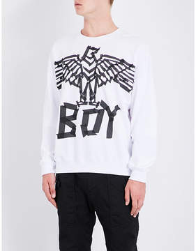 Boy London Eagle tape-print cotton sweatshirt