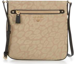 MICHAEL Michael Kors Kelsey Nylon Leopard-Print Animal Jacquard Large Cross-Body Bag