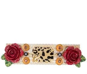 Dolce & Gabbana rose leopard hair clip