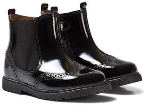 Start Rite Start-rite Black Patent Brogue Boots