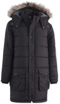 Calvin Klein Snorkel Hooded Puffer Jacket with Faux-Fur Trim, Big Boys (8-20)