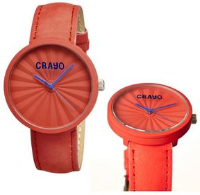 Crayo Pleats Collection CR1505 Unisex Watch
