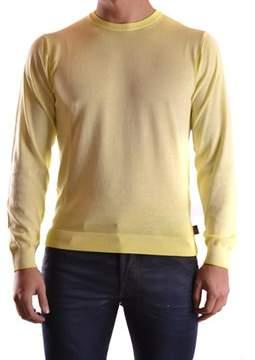 Armani Collezioni Men's Yellow Cotton Sweater.