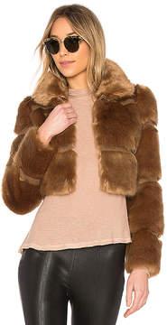 Lovers + Friends Parker Faux Fur Coat