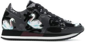 Philippe Model swan detail sneakers
