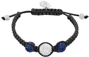 Ball Penn State Nittany Lions Crystal & Sterling Silver Team Logo Slipknot Bracelet