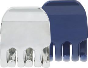 Scunci Classic Jaw Clips in Blue & Silver