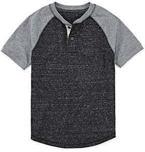 Arizona Short Sleeve Henley Shirt -Boys 4-20