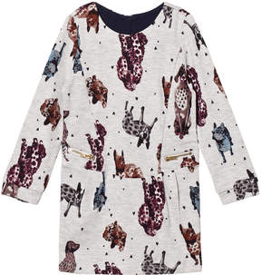 Catimini Grey Marl Dog Print Sweat Dress