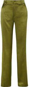 Joseph Ferdy Silk-satin Wide-leg Pants - Green