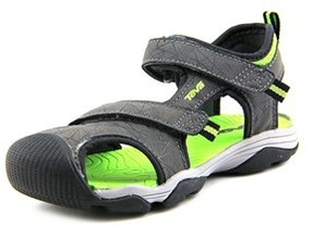 Teva Toachi 3 Youth Round Toe Synthetic Gray Sport Sandal.