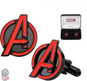 Marvel Men's Stainless Steel Black IP Avengers Red A Cufflinks
