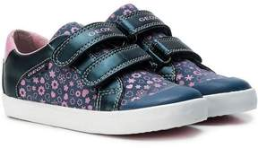 Geox touch strap printed sneakers