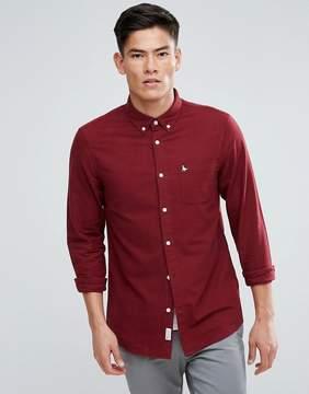 Jack Wills Wadsworth Regular Fit Brushed Oxford Shirt In Damson