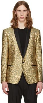 Dolce & Gabbana Gold Jacquard Blazer