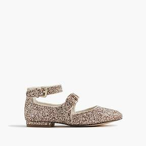 J.Crew Girls' glitter Mary Jane ballet flats