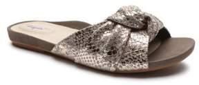 Tahari Lass Metallic Leather Slides