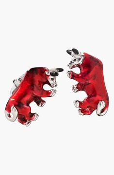 Jan Leslie Men's Bull Cuff Links