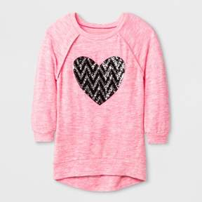 Miss Chievous Girls' 3/4 Sleeve Sweatshirt - Pink