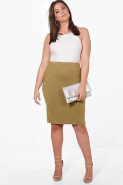 boohoo Plus Samia Midi Skirt