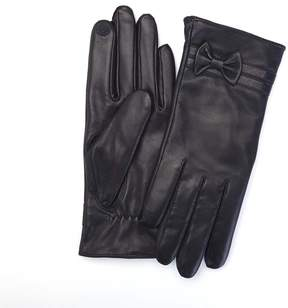 Royce Leather Royce Premium Lambskin Leather Cellphone Tablet Touchscreen Medium Gloves - Black