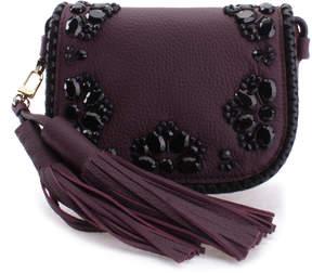 Kate Spade Mahogany Embellished Anderson Way Leather Crossbody Bag