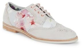 Ted Baker Allea Floral Wingtip Oxfords