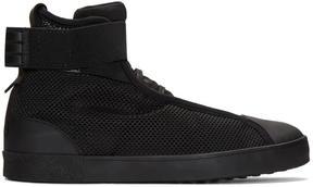 Y-3 Black Loop Court High-Top Sneakers