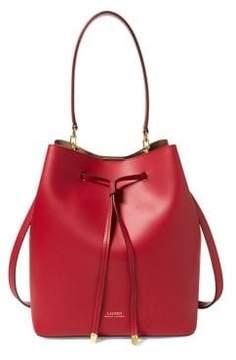 Lauren Ralph Lauren Debby Drawstring Medium Leather Bag