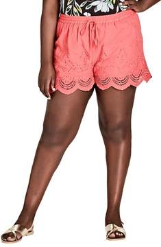 City Chic Summer Love Drawstring Shorts