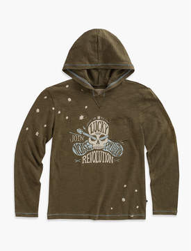 Lucky Brand MAKE NOISE GRAPHIC HOODY