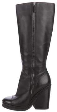Marc Jacobs Leather Cap-Toe Boots