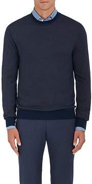 Loro Piana Men's Zigzag-Knit Cashmere-Blend Sweater