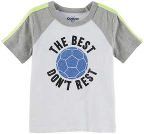 Osh Kosh Oshkosh Bgosh Boys 4-12 The Best Don't Rest Soccer Ball Raglan Tee