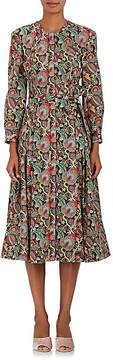Zac Posen Women's Floral Cotton Fit & Flare Shirtdress