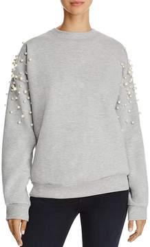 Aqua Pearl Embellished Sweatshirt - 100% Exclusive