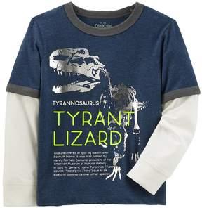 Osh Kosh Oshkosh Bgosh Boys 4-12 Tyrant Lizard Dinosaur Ringer Tee