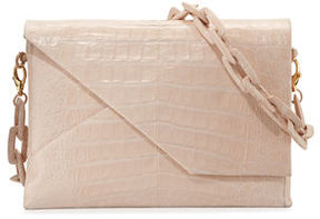Nancy Gonzalez New Origami Crocodile Chain Shoulder Bag