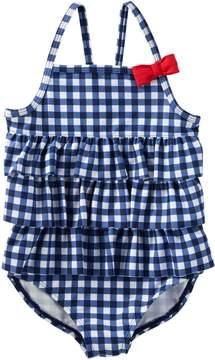 Osh Kosh Oshkosh Bgosh Baby Girl Gingham Ruffle One-Piece Swimsuit