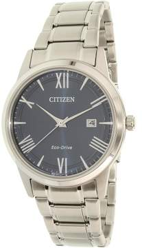 Citizen Men's Eco-Drive AW1231-58L Silver Stainless-Steel Dress Watch