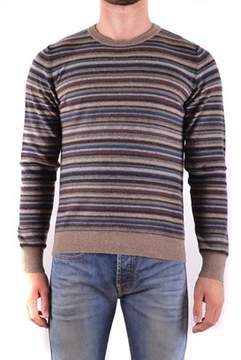 Mauro Grifoni Men's Brown Wool Sweater.