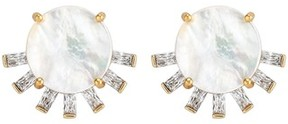 Asha Women's Tallulah Mother-Of-Pearl Stud Earrings