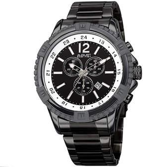 August Steiner Mens Black Strap Watch-As-8229bk