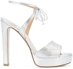 Francesco Russo metallic platform sandals