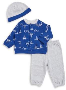 Little Me Baby Boy's Three-Piece Jacket, Pants, and Beanie Set