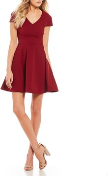 B. Darlin Tie Back Fit-And-Flare Dress